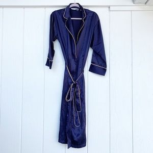 🚘MOVING🚘 VICTORIAS SECRET Blue Gold Robe XS